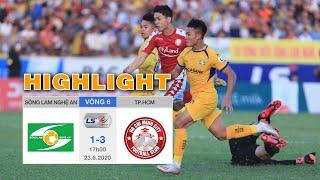 Highlight Sông Lam Nghệ An vs TPHCM - Vòng 6 V.League 2020 - Phản ứng trọng tài