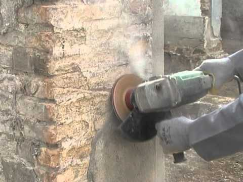 How to sand brick wall with Dokoyoh grinding wheel -GHINES