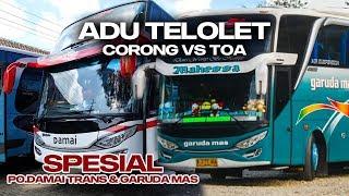 DUEL BUS SUMATERA!!! Adu Telolet Bus Sinar Dempo Malibu VS