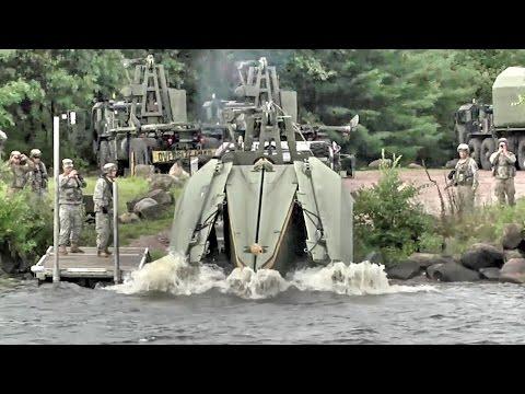 Army Engineers Build Floating Bridge – Multi-Role Bridge Company