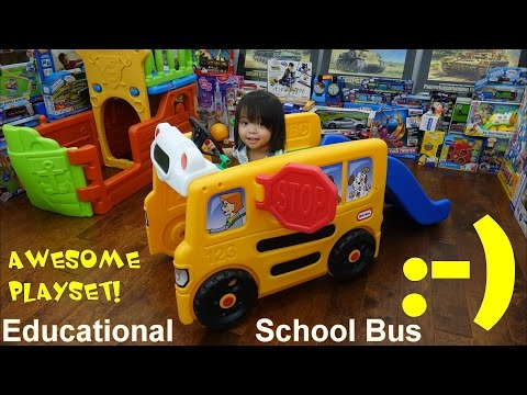 Xxx Mp4 Kiddie Playground Little Tikes Educational Playset Yellow Shool Bus With Slide Playtime 3gp Sex