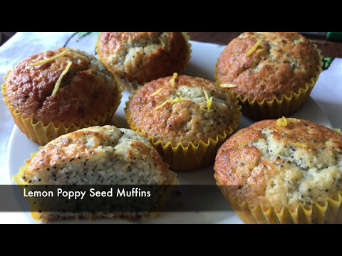 Lemon Poppy Seed muffins - Episode 325 - Baking with Eda