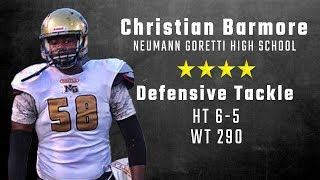 Christian Barmore highlights | Alabama 4-star DT signee from Neumann Goretti