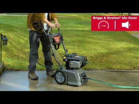 Idle Down   Troy-Bilt® 3100 Max PSI Pressure Washer with Briggs & Stratton®
