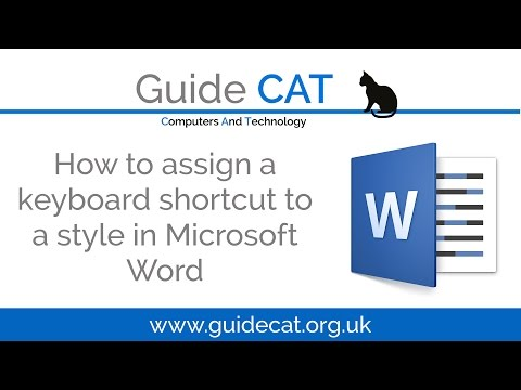 How to Assign a Keyboard Shortcut to a Style in Microsoft Word 2016