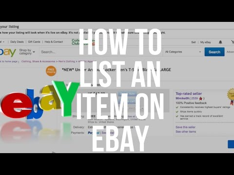 How to list items on eBay. A step by step tutorial for beginners