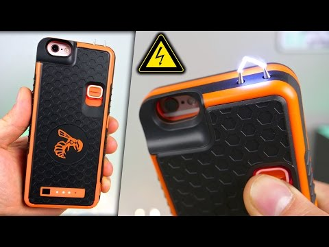 Badass iPhone Stun Gun Case! + Electrocuting Myself⚡️🐝