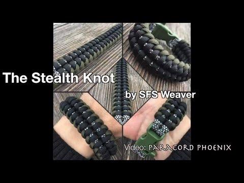 The Stealth Knot Paracord Bracelet design by SFS Weaver 4-Strand, tutorial Paracord Phoenix.