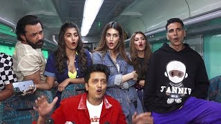 Housefull 4 Cast FULL FUNNY Interview in a Running Train |  Akshay,Riteish,Bobby,Kriti,Pooja,Kriti