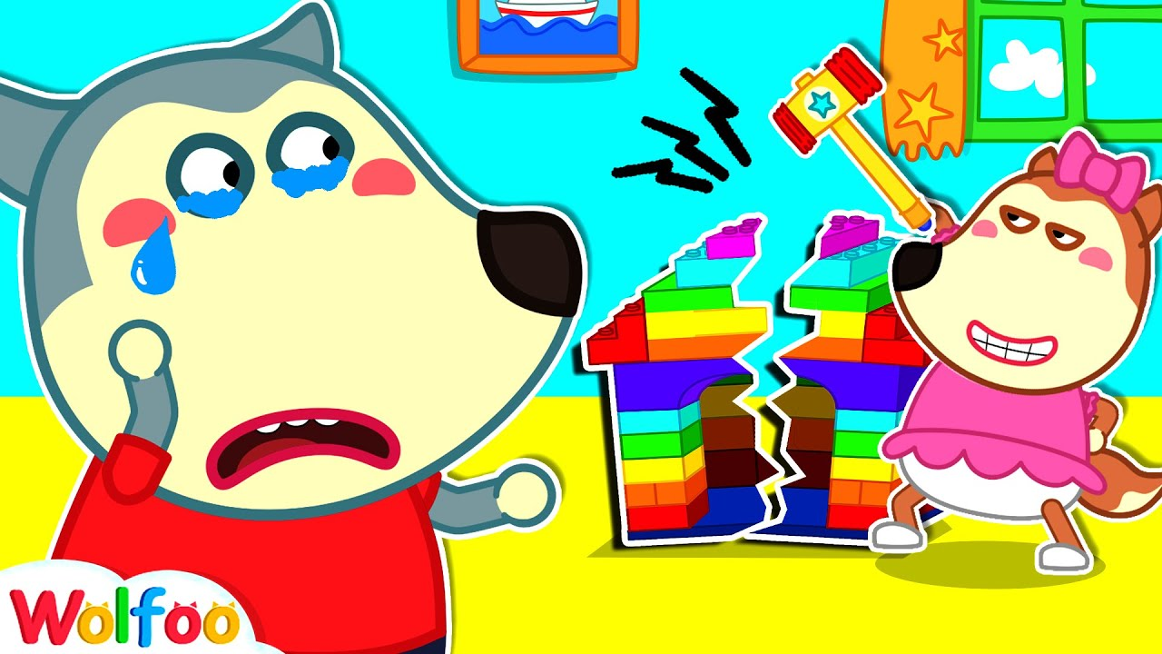 Lucy, Stop Breaking Colorful Lego Playhouse - Wolfoo Learns Good Behavior for Kids | Wolfoo Channel