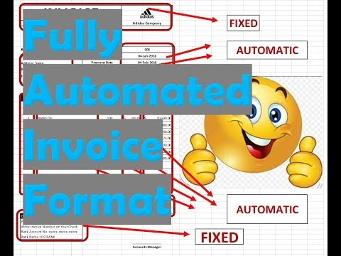 How to Make invoice in Excel, Fully Automated invoice Template