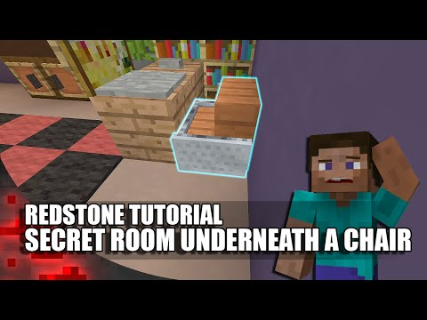 Minecraft: Secret Room Underneath A Chair!