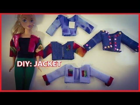 DIY: BARBIE DOLL CLOTHES - JACKET!