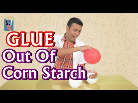 How To Make Glue Out Of Corn Starch - Kids Science Experiments