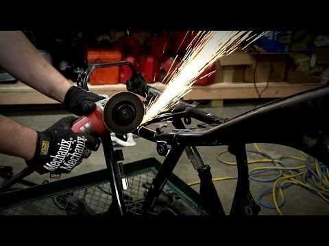 Honda CB550 Cafe Racer Build Ep. 5 (Putting the Bike on a Diet)