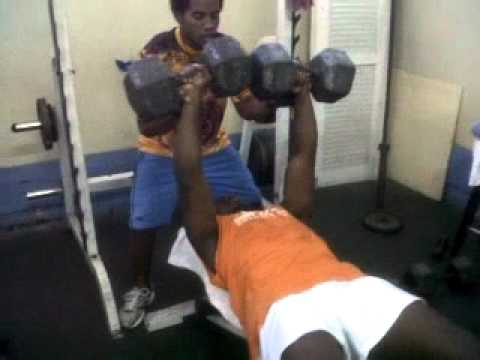 Dougie 100lbs Dumbell Bench Press