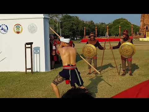 Thai wooden staff martial art