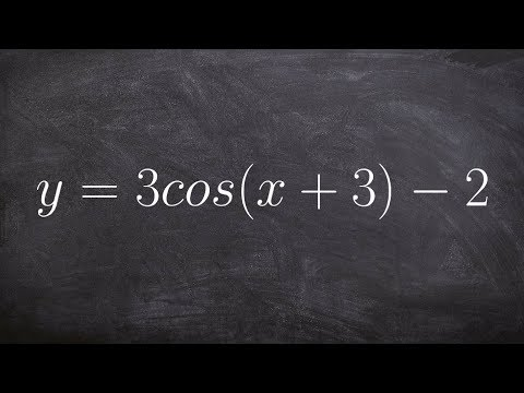 Learn How to Find the Amplitude, Period, Phase Shift and Vertical Translation of Cosine