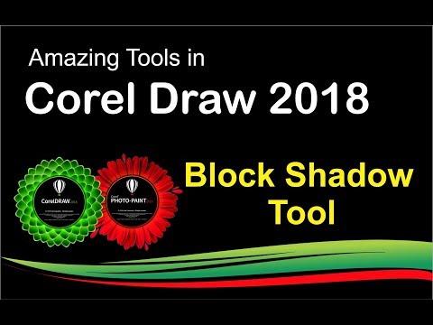 Corel Draw Graphics suite 2018 Block Shadow tools tutorial by, Amjad Graphics Designer