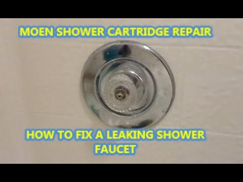 HOW TO FIX A LEAKING SHOWER FAUCET.  MOEN CARTRIDGE REPLACEMENT.