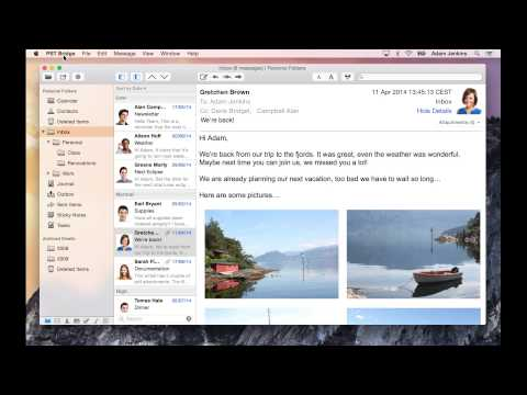 Transfer messages from Outlook pst files to Mac OS X