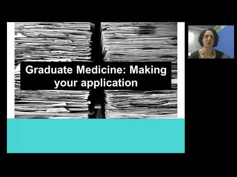 Making your application for graduate entry medicine