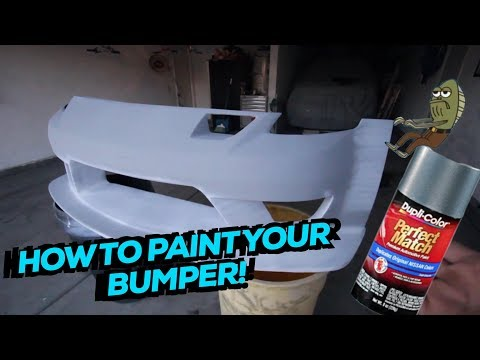 How to spray paint your bumper or car!