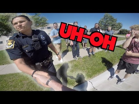 BUSTED DOING WHEELIES  *COOL COPS* | GROMS IN THE WILD | DES MOINES GROM SQUAD