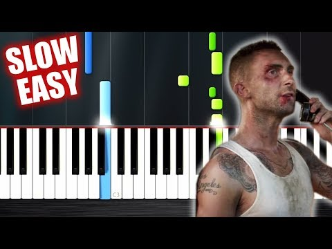 Maroon 5 - Payphone - SLOW EASY Piano Tutorial by PlutaX