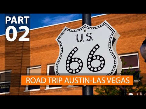 Road trip from Austin to Las Vegas driving on Route 66 (Vlog 2)