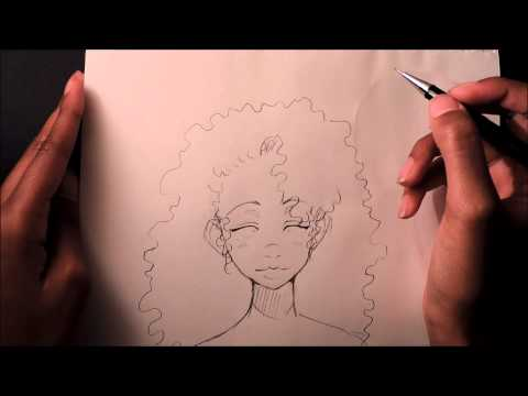 How to Draw Curly/Afro Hair