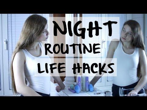 NIGHT ROUITNE + DIYs and LIFE HACKS!!