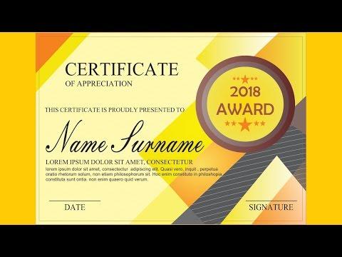 Nice !!! Premium Certificate Design Part.2