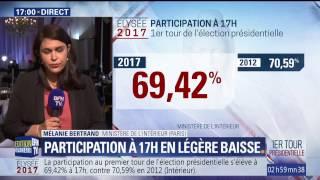 Présidentielle 2017: la participation à 17h s