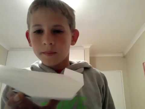 How to make a easy boomerang plane.