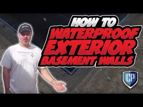 How To Waterproof Exterior Basement Walls