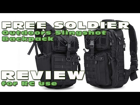 DutchRC - Review of the Free Soldier Slingshot Backpack - For RC Use :)