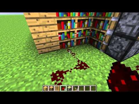 Minecraft-How To Make Moving Bookshelf Door