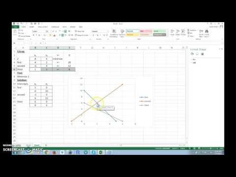 Minimization Problem Using Excel