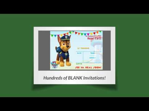 Free printable party invitation templates