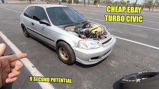 Racing Tavarish's Cheap Civic Down The Quarter Mile!