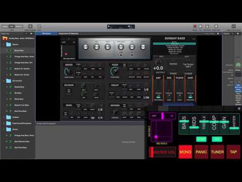 Bass Rig- Sunday Bass MainStage template by Sunday Sounds walkthrough video