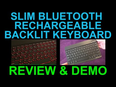 Bluetooth Rechargeable Backlit Keyboard by Arteck Review and Demo - Best Slim Profile Wireless