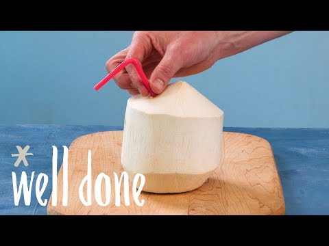 How To Drink A Coconut | Food Hacks | Well Done
