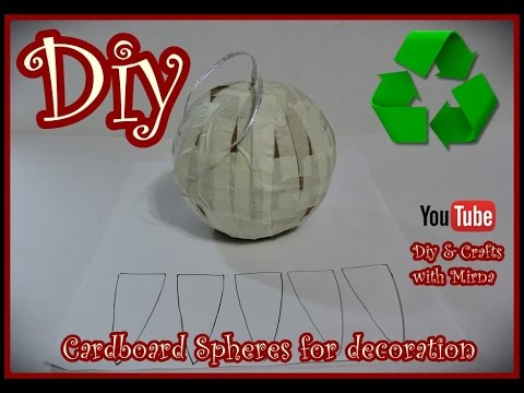 Diy. How to make cardboard spheres for decorating. Diy & Crafts with Mirna
