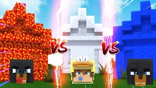 Minecraft LAVA HOUSE VS WATER HOUSE VS ICE HOUSE CHALLENGE - WHO