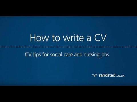 How to write a CV: CV tips for social care and nursing jobs