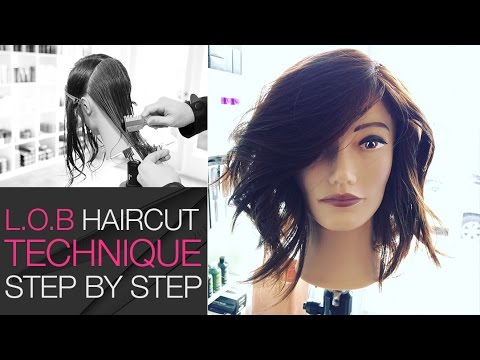 How To Cut A LOB Haircut With A Razor In Under 10 Min - Step by Step Medium Length Haircut