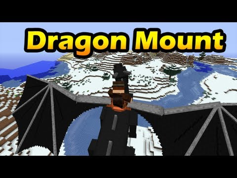 Minecraft Mods: Dragon Mount | FLY WITH THE ENDER DRAGON! (HD)