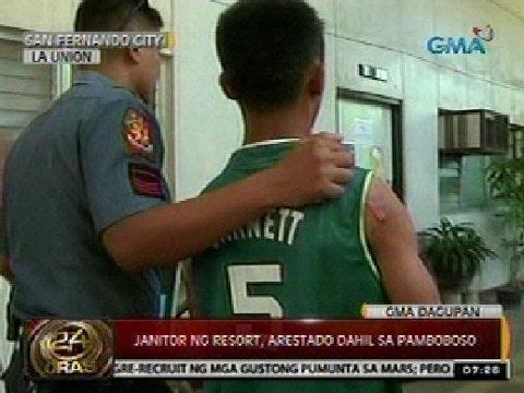 24Oras: Janitor ng resort sa San Fernando City, La Union, arestado dahil sa pamboboso